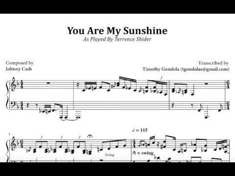 Terrence Shider| You Are My Sunshine (Transcription)