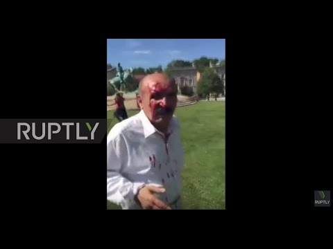 USA: Fights break out between Erdogan supporters and protesters in Washington DC