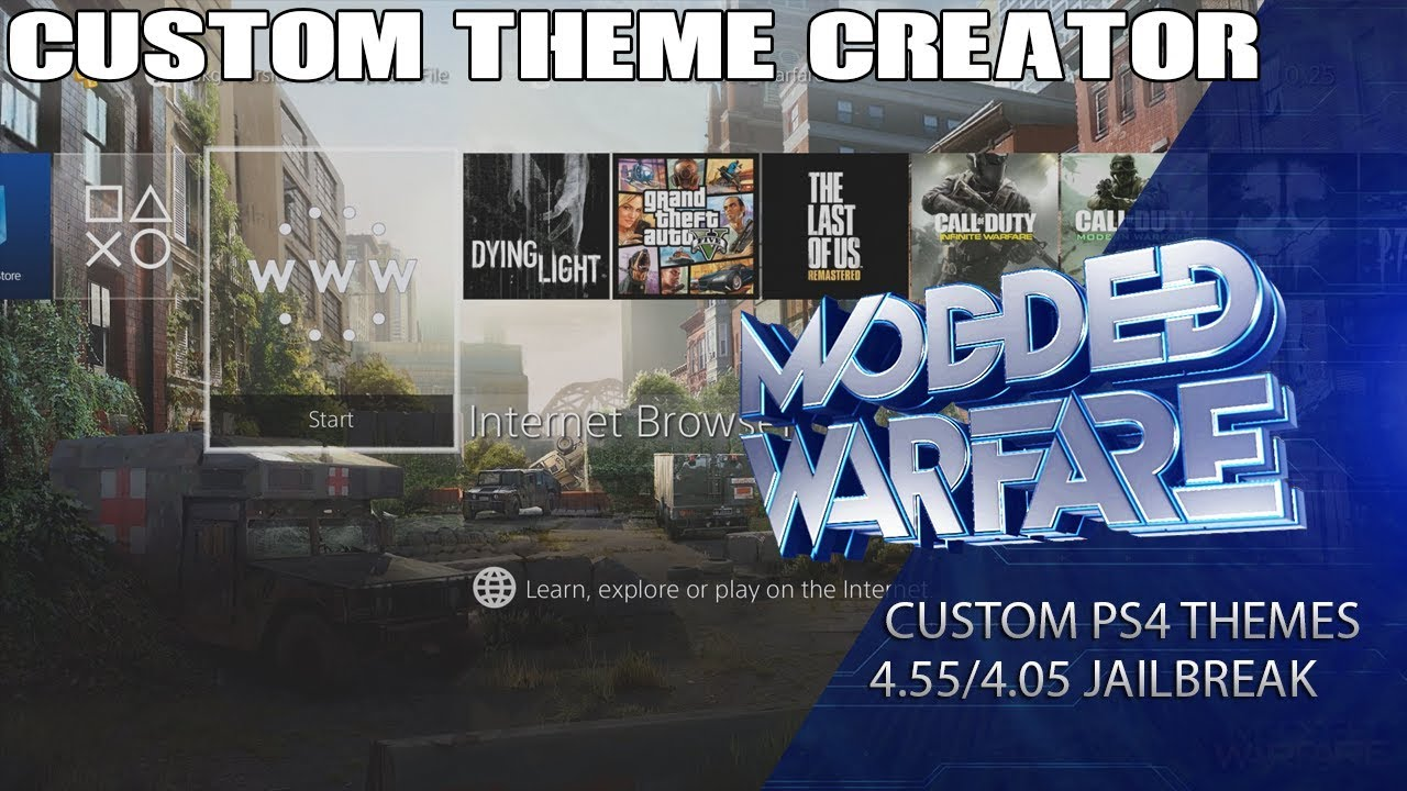 PS4 Theme Creator to Build Custom Themes by MODDED WARFARE! | PSXHAX