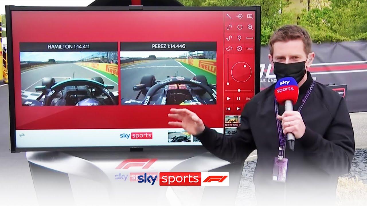 Lewis Hamilton vs Sergio Perez | Comparing their qualifying laps | Sky Pad Emilia Romagna Grand Prix
