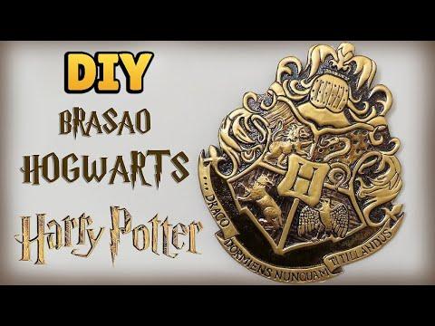 DIY: BRASÃO HOGWARTS - HARRY POTTER TUTORIAL