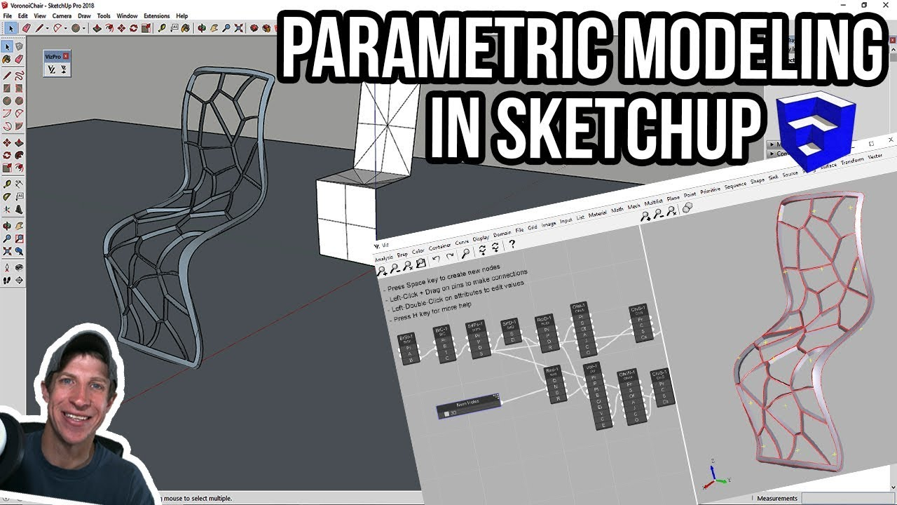 PARAMETRIC MODELING IN SKETCHUP with Viz Pro - Extension of the Week #50!