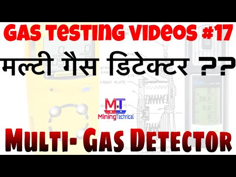 Multi gas detector || gas testing videos || 17 || mining technical || miningtechnical || हिन्दी