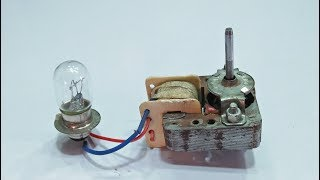 make alternator generator with micro view oven motor 100% Free energy