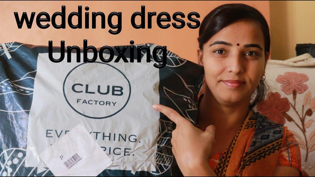 dd5fd5d8a7 Club factory-Ball gown | V-Neck Wedding Dresses Unboxing | honest review