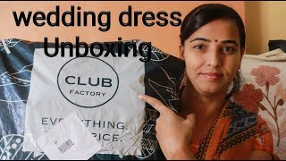 Club factory-Ball gown | V-Neck Wedding Dresses Unboxing | honest review
