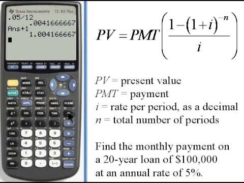 Calculating Payments for Present Value - TI-83/84 141.36 - YouTube