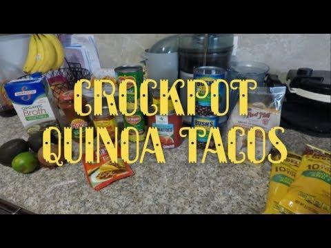 Vegan Crockpot Quinoa Tacos!!!