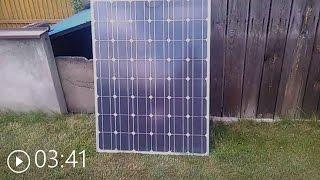 Panel sloneczny ogniwo fotowoltaiczne 12v 180w Test mini elektrownia słoneczna