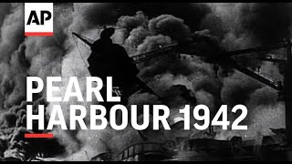 Movietone exclusive!  Bombing of Pearl Harbour  - 1941