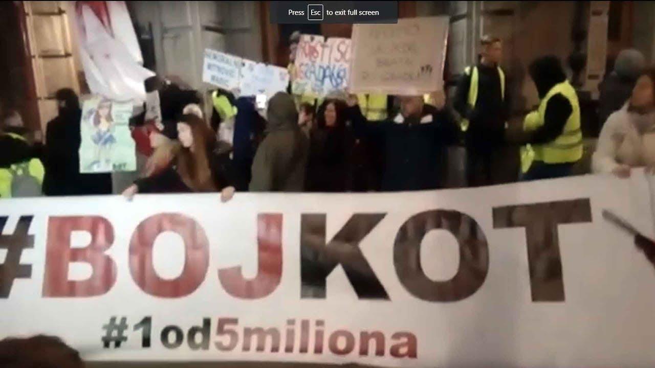 Vlada Srbije - Protesti u Beogradu | 30.11.2019