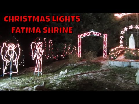 Fatima Shrine Christmas Lights ~ Holliston Ma