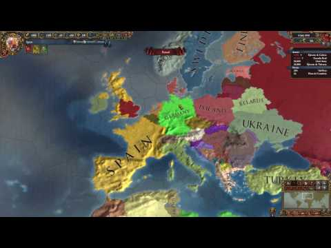 Europa Universalis 4 - Spanish Conquest of modern Europe w/ Trainer, Part 1