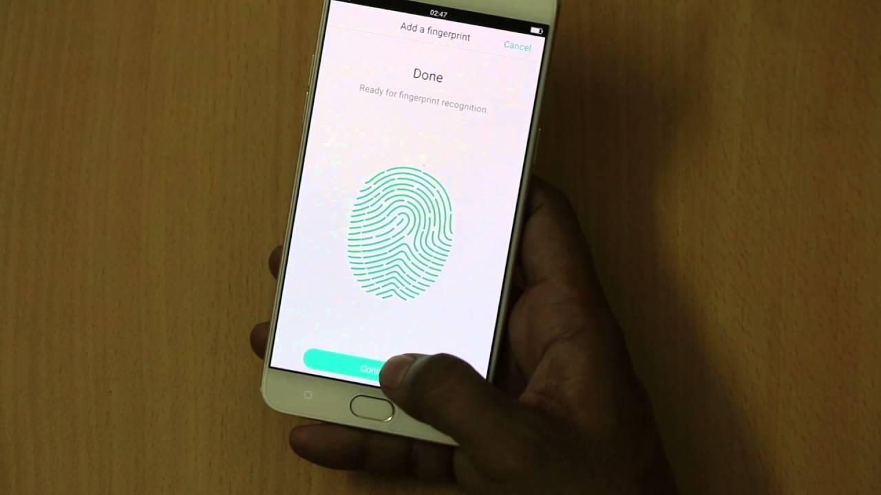 How To Set Fingerprint Sensor On OPPO F1 Plus