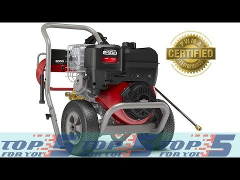 Top 5 Best 4000 PSI Gas Pressure Washer for 2019 - YouTube