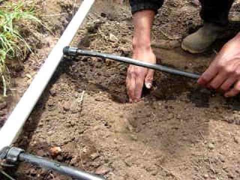 como instalar cinta de riego por goteo