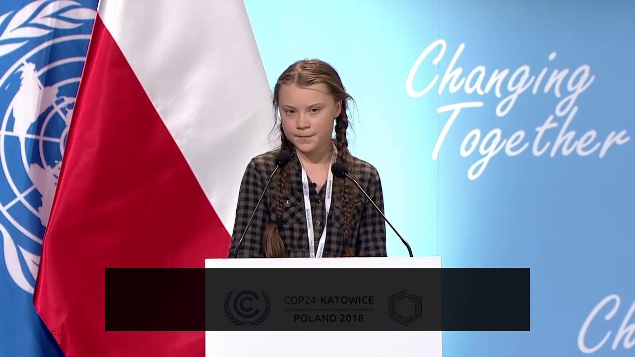 グレタ・トゥーンベリさんによる COP24 でのスピーチ