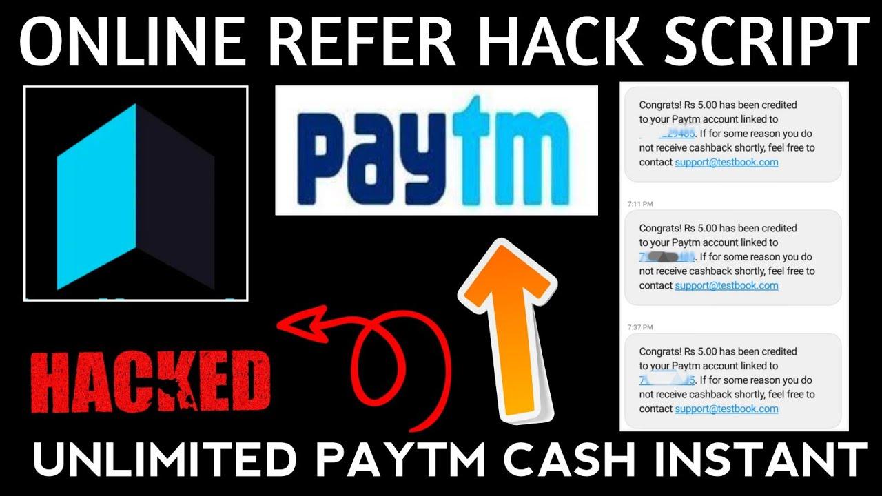 Unlimited PayTm Cash Script   New App Online Refer Script  