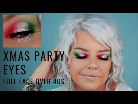Full Face Christmas Party Makeup Tutorial Morphe James Charles Palette Over 40s nicqui madden