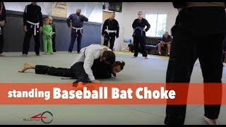 In this video I show the standing baseball bat choke. I love this c...
