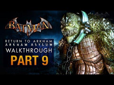 Batman: Return to Arkham Asylum Walkthrough - Part 9 - The Old Sewer (Killer Croc)