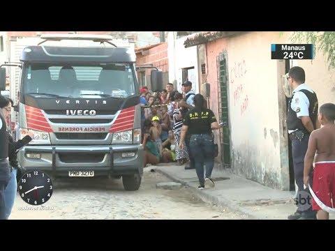 Quatro jovens foram mortos em chacina em Fortaleza, no Ceará | SBT Notícias (10/10/17)