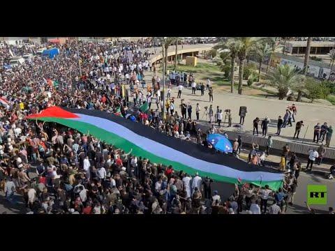 الآلاف يحتشدون في بغداد تنديدا بـ-الاعتداءات- الإسرائيلية على غزة  - نشر قبل 3 ساعة