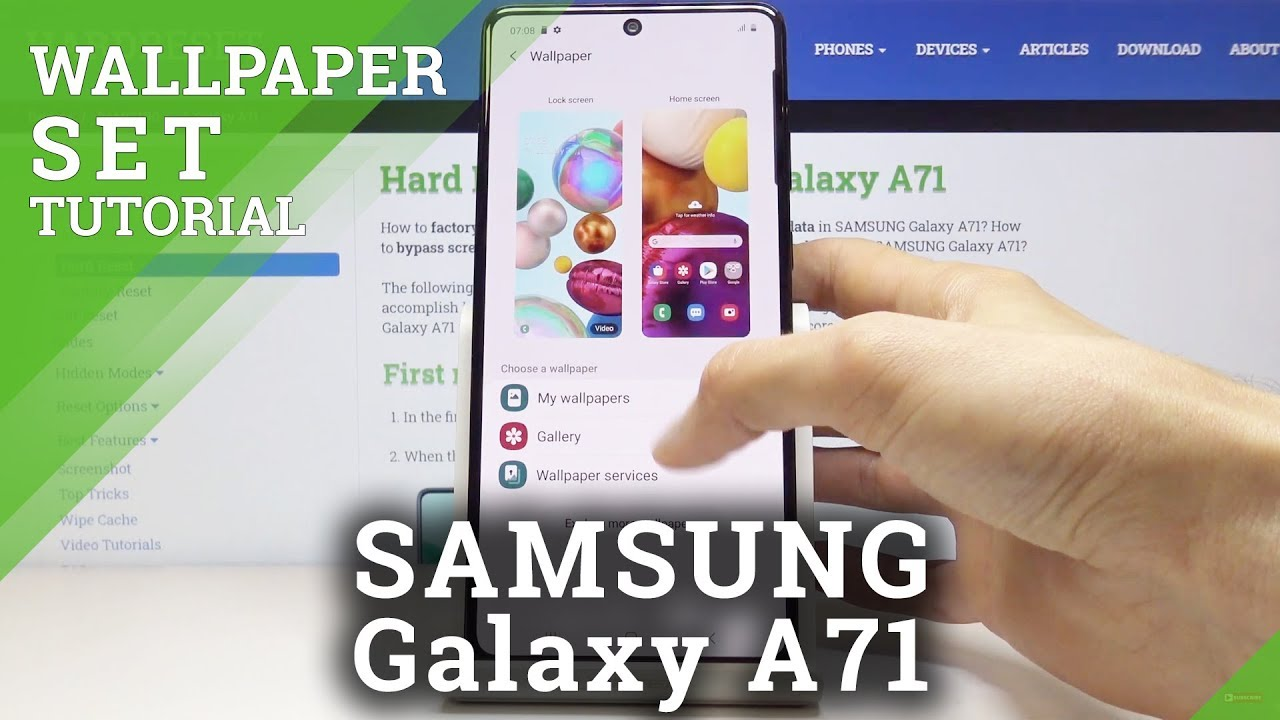 Change Wallpaper Samsung Galaxy A71 How To Hardreset Info