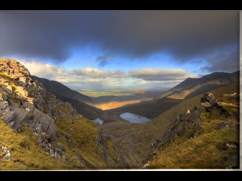 Highest peak in Ireland. Carrauntoohil. video time lapse HD