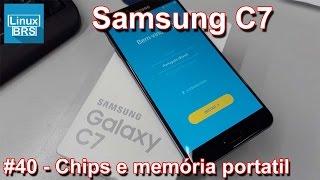 Samsung Galaxy C7 - Cartões SIM + Micro SD e memória portatil