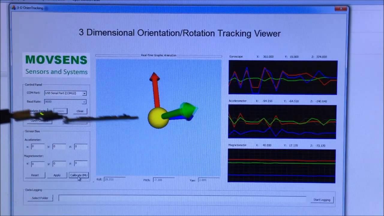 MovSens® 9DOF IMU-Based 3D Orientation/Rotation Tracking by MovSens LLC
