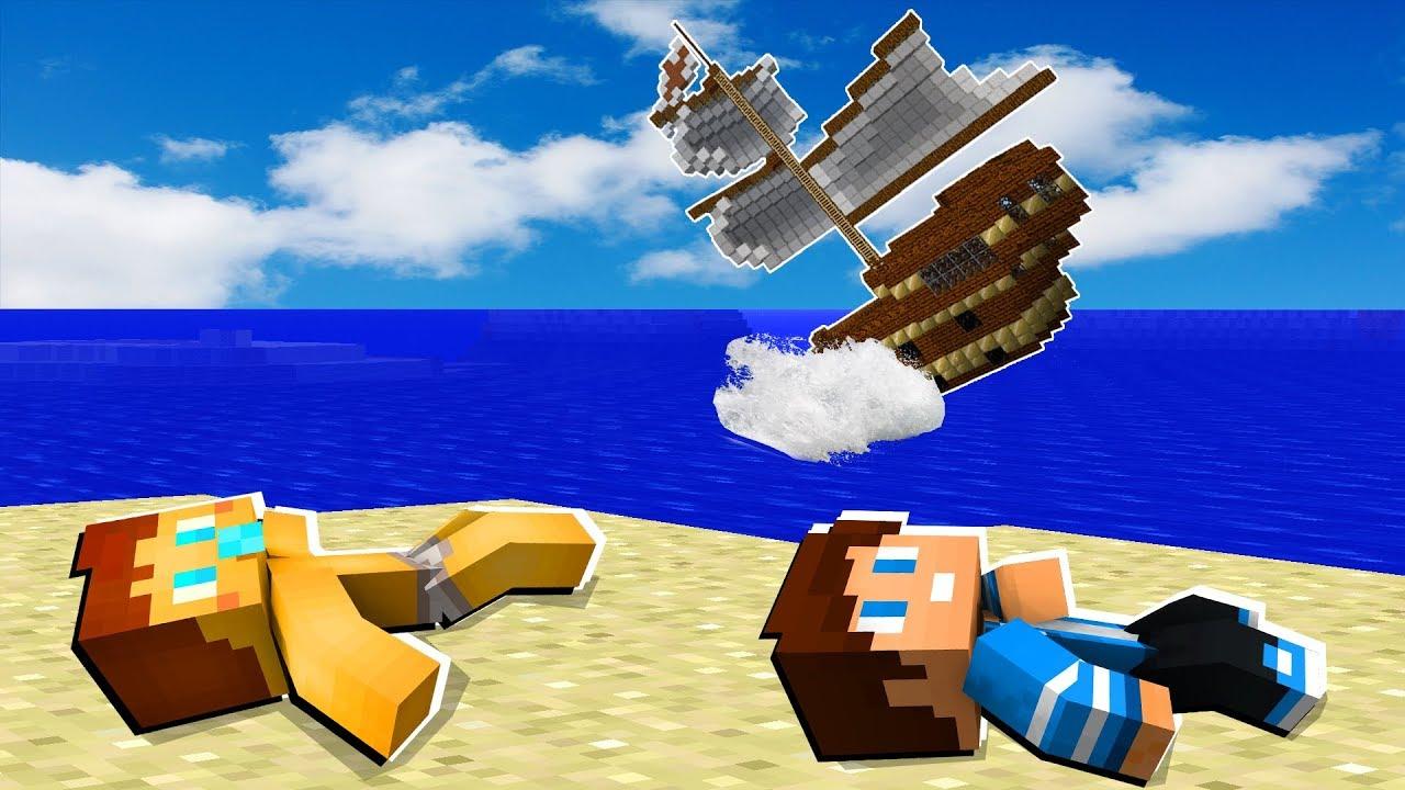 сервера для майнкрафт 1.8.3 крушение самалёта и попав на зогадычный остров