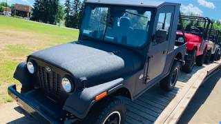 Another LOOK at the MAHINDRA ROXOR Hard Cab. Well built but a little rough.