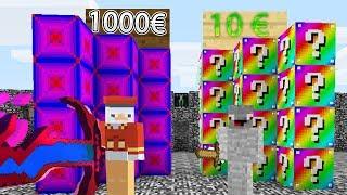 Alphastein 10€ Waffe Vs 1000€ Waffe Minecraft Lucky Block Bedwars