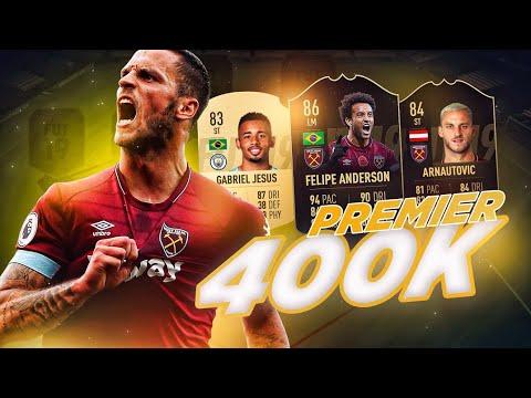 FIFA 19   LA MEJOR PREMIER LEAGUE POR 400K MONEDAS !! CON NUEVA FORMACIÓN !!
