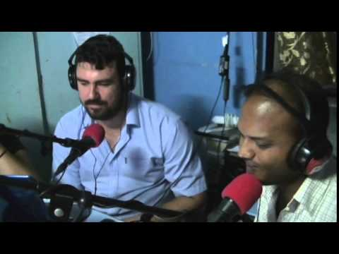 Padma on radio station with Bro Dario and Vijay