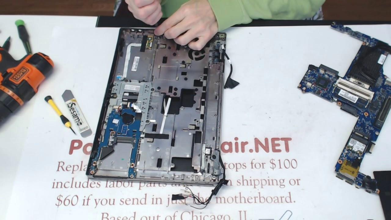 HP Elitebook 8470p taking apart tear down guide disassembly motherboard  replacement repair