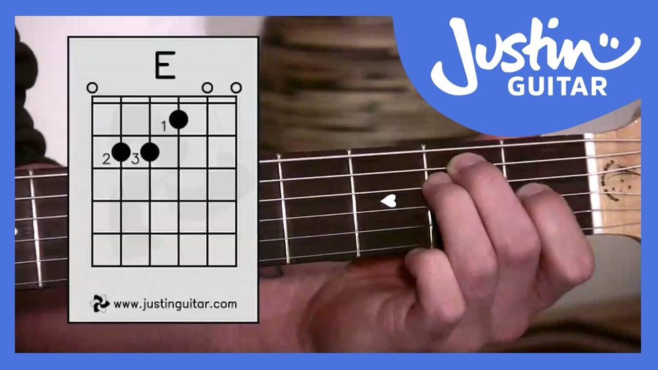 E Chord Easy Third Guitar Beginner Lessons Stage 1 How To Read Diagrams Learn Play Music Justinguitar Bc 113