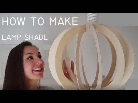 How to Make a Lamp Shade from Plywood