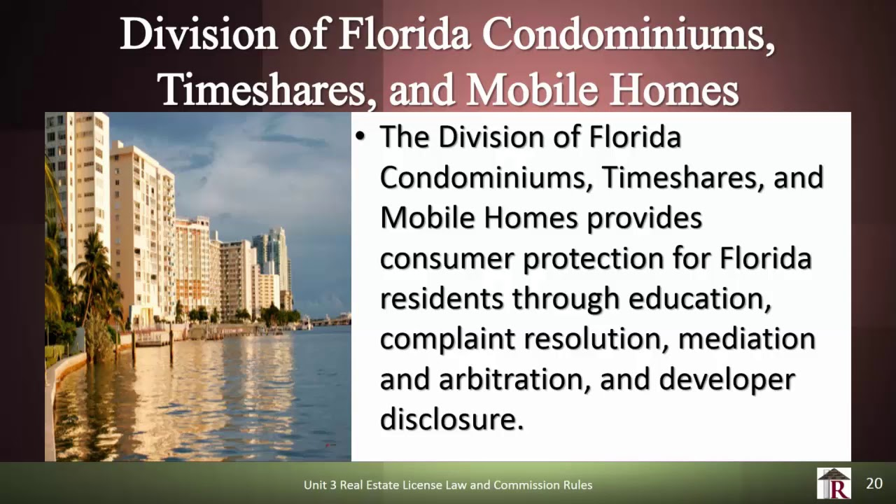 Timeshares In Florida >> Rowlett Real Estate School Div Of Condominiums Timeshares Mobile Homes Florida Real Estate