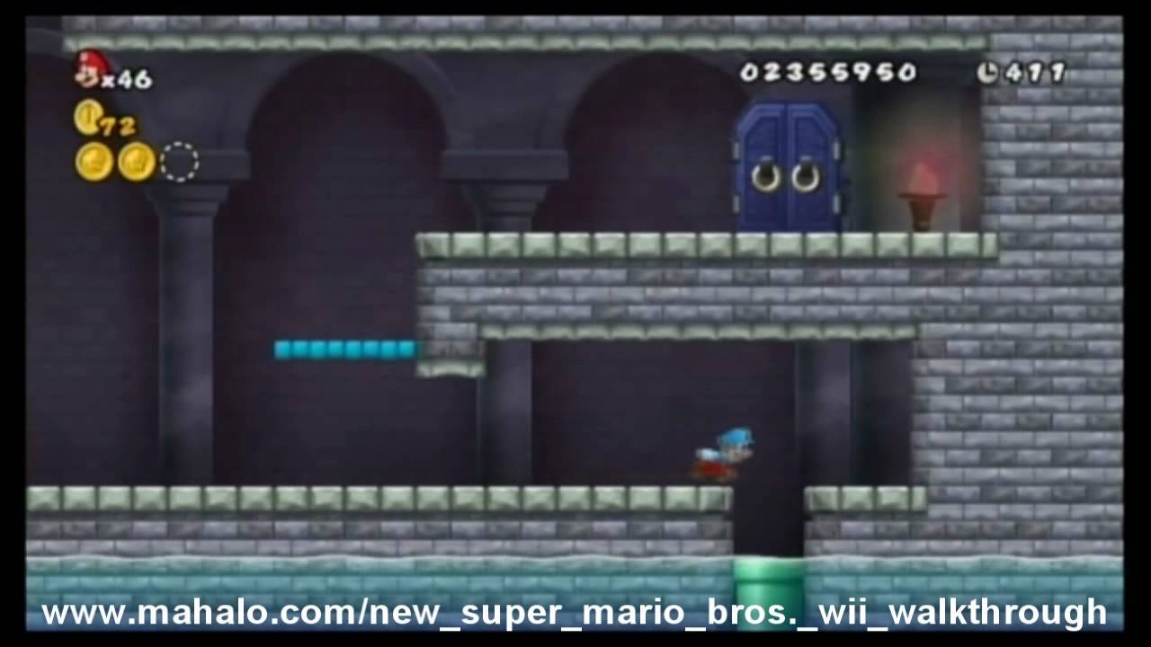 New Super Mario Bros Wii Walkthrough World 4 Castle Youtube