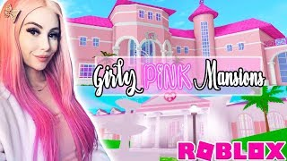 Touring The GIRLIEST PINK MANSIONS In Roblox!