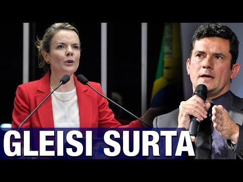 Gleisi Hoffmann surta e faz acusação absurda contra o juiz Sergio Moro em pleno Senado; veja vídeo