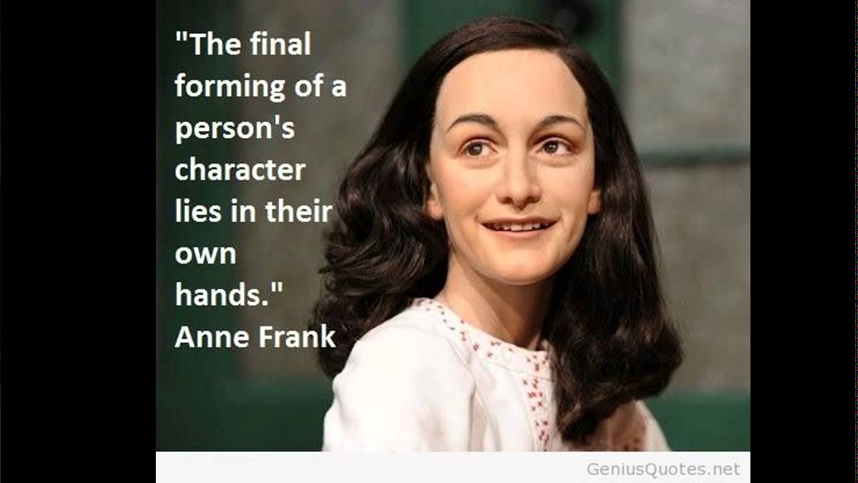 Anne frank quote talented