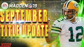 ZONES FIXED! Madden 19 MAJOR Franchise & Gameplay Update!