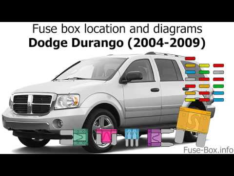 [DIAGRAM_5UK]  Fuse box location and diagrams: Dodge Durango (2004-2009) - YouTube | 05 Durango Fuse Box |  | YouTube