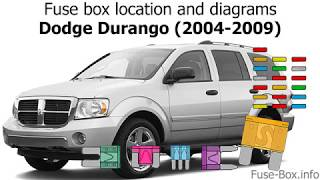 [DIAGRAM_0HG]  Fuse box location and diagrams: Dodge Durango (2004-2009) - YouTube | 05 Dodge Durango Fuse Box Diagram |  | YouTube