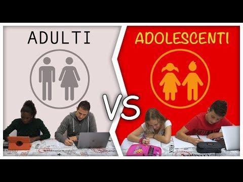 ADULTI Vs ADOLESCENTI - Differenze by Lukas Lisa Ceci e Marco