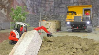STRONG RC MACHINES WORKING HARD! BIG BLOCK TRANSPORT! RC HEAVY MACHINES!