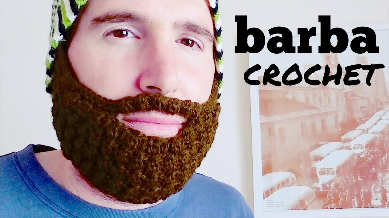 BARBA a crochet (ganchillo) paso a paso - YouTube